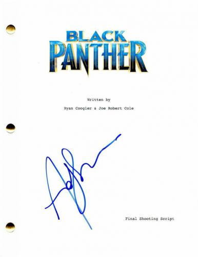 Andy Serkis Signed Autograph Black Panther Full Movie Script - Chadwick Boseman