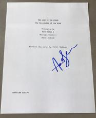 """Andy Serkis Signed Autograph Rare """"lord Of The Rings"""" Complete Movie Script Coa"""