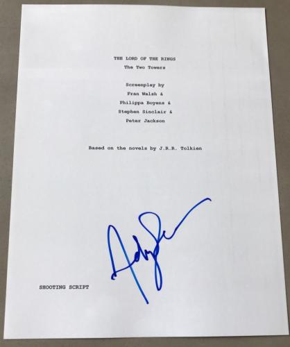 Andy Serkis Signed Autograph Rare Lord Of The Rings Two Towers Movie Script Coa
