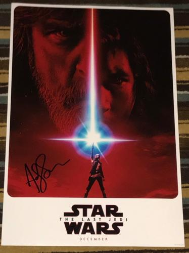 ANDY SERKIS SIGNED AUTOGRAPH STAR WARS THE LAST JEDI NEW POSTER 12x18 PHOTO COA