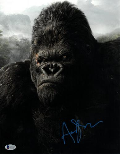 Andy Serkis signed King Kong 11X14 Photo (vertical- blue sig)- Beckett Holo #C65597