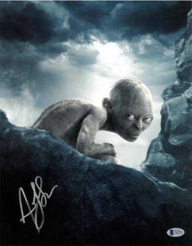Andy Serkis signed Lord of the Rings Gollum 11X14 Photo (vertical- silver sig)- Beckett Holo #C65574