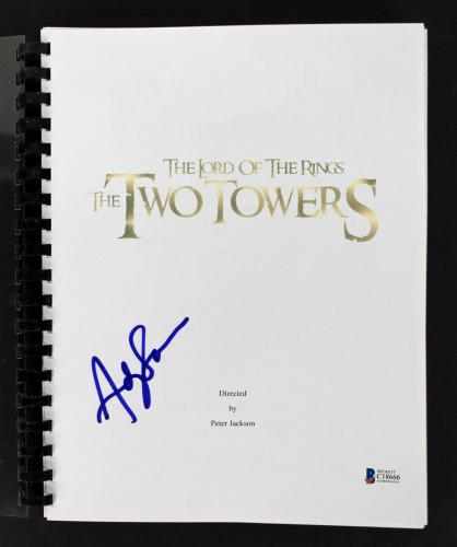 Andy Serkis  Signed Lord of the Rings The Two Towers Movie Script BAS #C18666