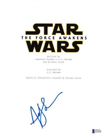 Andy Serkis Signed Star Wars Force Awakens Script Beckett Bas Autograph Auto Coa