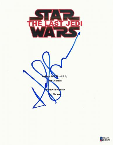 Andy Serkis Signed 'star Wars The Last Jedi' Script Cover Screenplay Beckett Bas