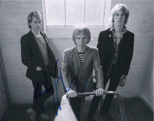 ANDY SUMMERS SIGNED AUTOGRAPHED 11x14 PHOTO - THE POLICE STING, STEWART COPELAND