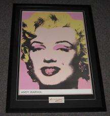 Andy Warhol Signed Framed 32x44 Marilyn Monroe Poster Display JSA
