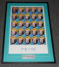 Andy Warhol Signed Framed Twenty Five Marilyn Monroe Poster Display JSA