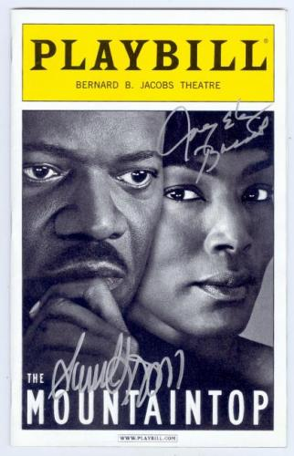 Angela Bassett and Samuel L. Jackson autographed Broadway Playbill (The Mountain Top)