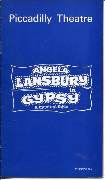 Angela Lansbury Barrie Ingham Gypsy Stephen Sondheim British 1973 Playbill