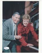 ANGELA LANSBURY HAND SIGNED 8x10 PHOTO      GREAT POSE WITH MILTON BERLE     JSA