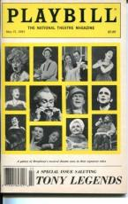 Angela Lansbury Michael Crawford Robert Preston Joel Grey Tony Legends Playbill