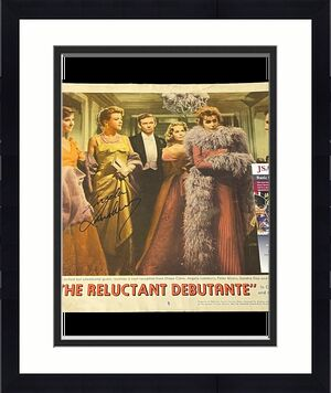 Angela Lansbury Reluctant Debutante Signed Autograph 11x14 Lobby Card Photo