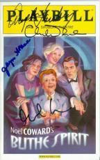 Angela Lansbury Rupert Everett Christine Ebersole Jayne Atkinson autographed Broadway Playbill Blithe Spirit