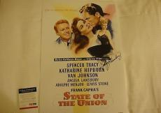 Angela Lansbury State Of The Union Signed Photo Movie Poster Psa/dna Coa #q60602