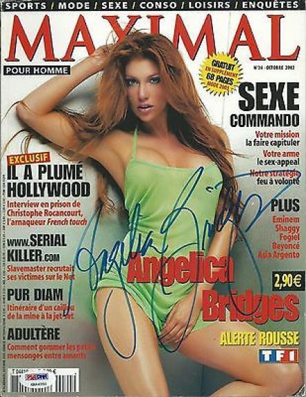 Angelica Bridges Signed 2002 French Edition Maxim Magazine PSA/DNA COA Autograph