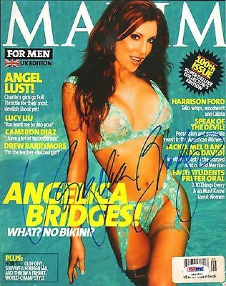 Angelica Bridges Signed 2003 UK Edition Maxim Magazine PSA/DNA COA Autograph