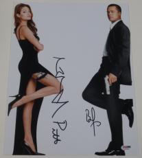 Angelina Jolie Brad Pitt Signed 11x14 Photo Authentic Autograph Psa/dna C
