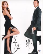 "ANGELINA JOLIE & BRAD PITT Signed ""MR. & Mrs. SMITH"" 11x14 Photo PSA/DNA #Z03897"