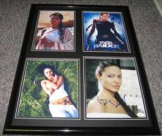 Angelina Jolie SEXY Signed Framed 18x24 Photo Set JSA