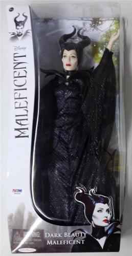 "ANGELINA JOLIE Signed Disney's Maleficent 13"" Doll PSA/DNA Jakks Pacific (Read)"