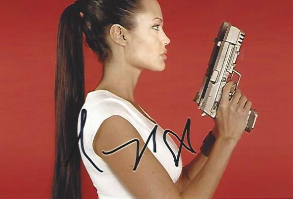 "ANGELINE JOLIE - Movies Include ""MR. and MRS. SMITH"", ""WANTED"", and ""SALT"" Signed 6x4 Color Photo"