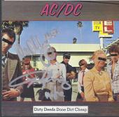 Angus & Malcolm Young Signed Ac/dc 'dirty Deeds' Cd Cover Autograph Psa/dna Loa