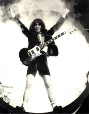 Angus Young AcDc Autographed 11x14 B/W Tunnel Photo AFTAL UACC RD COA