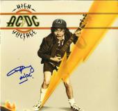 Angus Young ACDC Autographed High Voltage Album Cover AFTAL UACC RD COA