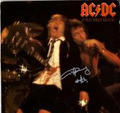 Angus Young ACDC Autographed If You Want Blood Album Cover AFTAL UACC RD COA