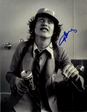 Angus Young AcDc Autographed Signed 11x14 B/W Photo AFTAL UACC RD COA