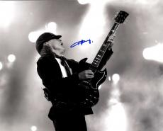 Angus Young Ac/Dc Autographed Signed 16x20 B/W Photo AFTAL UACC RD COA
