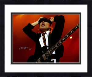 Angus Young Ac/Dc Autographed Signed 16x20 Concert Photo AFTAL UACC RD COA