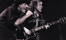 Angus Young Ac/Dc Autographed Signed B/W 11x14 Photo AFTAL
