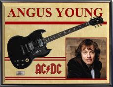 Angus Young AcDc Autographed Signed Gibson Guitar + Display UACC RD COA AFTAL