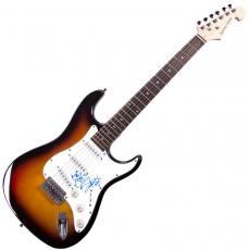 Angus Young AcDc Autographed Signed Sunburst Guitar W/Sketch AFTAL UACC RD