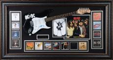 Angus Young ACDC Framed Autographed Guitar Collage - PSA/DNA