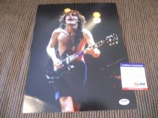 Angus Young AC/DC Live Signed Autographed 11x14 Photo PSA Certified #2