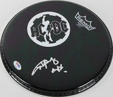 "Angus Young ""AC/DC"" Signed 11 Inch Drumhead PSA/DNA #Z92896"