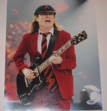 ANGUS YOUNG (AC/DC) Signed 11x14 Concert PHOTO w/ PSA LOA & Graded 10