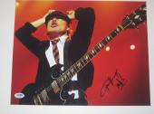 ANGUS YOUNG (AC/DC) Signed 11x14 Concert PHOTO with PSA LOA & Graded 10