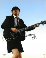 Angus Young AC/DC Signed Authentic Autographed 11x14 Photo PSA/DNA #AA21749