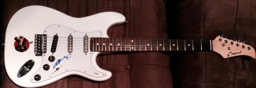 Angus Young Ac/dc Signed Autograph White Custom Electric Guitar Psa/dna Z83450