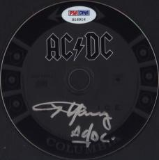 Angus Young Ac/dc Signed Autographed Cd Psa/dna S16916