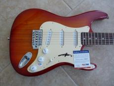 Angus Young AC/DC Signed Autographed Guitar Fender Squier Bullet PSA Certified