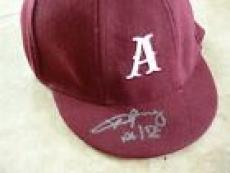 Angus Young AC/DC Signed Autographed Schoolboy Hat PSA Certified