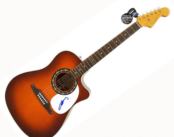 Angus Young AcDc Signed Fender Acoustic Electric Guitar UACC RD COA AFTAL