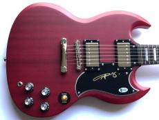 Angus Young ac/dc signed guitar sg autographed beckett coa ac dc