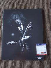 Angus Young AC/DC Vintage Live Signed Autographed 11x14 Photo PSA Certified #12