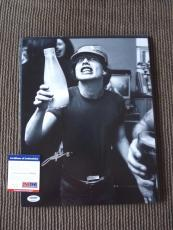 Angus Young AC/DC Vintage Live Signed Autographed 11x14 Photo PSA Certified #16